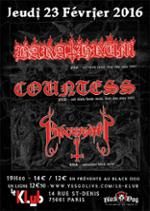 Barathrum, Countess & Blackdeath ■ Le Klub / Paris