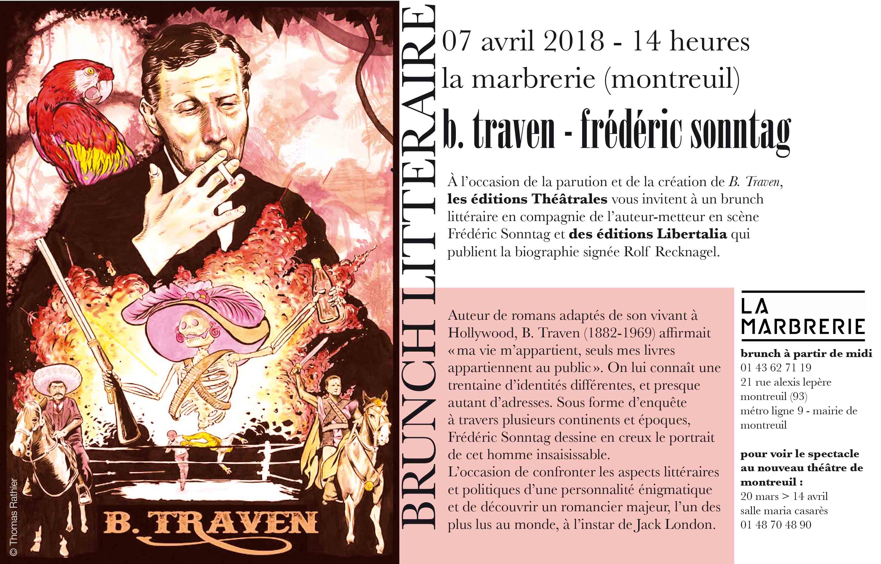 Brunch littéraire : Frédéric Sonntag