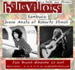 JAZZ BRUNCH w/ IRENE AMATA & ROBERTO STIMOLI
