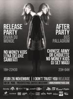 NO MONEY KIDS // RELEASE PARTY ♦ Divan du Monde + Bus Palladium ♦ Featuring SAMIFATI + LENA DELUXE + CHINESE ARMY + DR CHOUETTE + MADJ