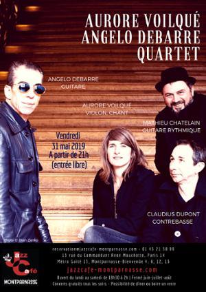 Aurore Voilqué Angelo Debarre 4tet au Jazz Café Montparnasse