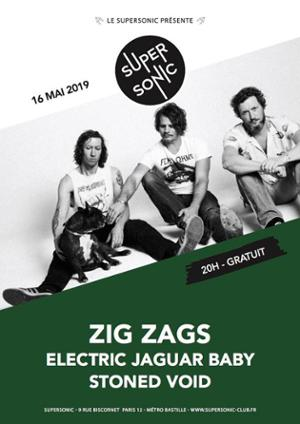 Zig Zags (Garage Punk Fuckin Metal, LA) en concert au Supersonic