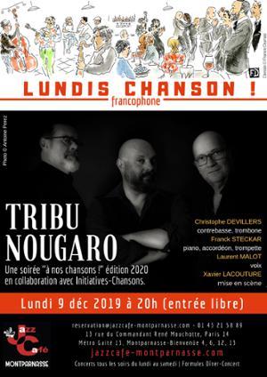 Lundis Chanson ! Tribu Nougaro au Jazz Café Montparnasse