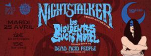 Concert: Nightstalker / LDDSM / Dead Acid People @Batofar (Below The Sun)