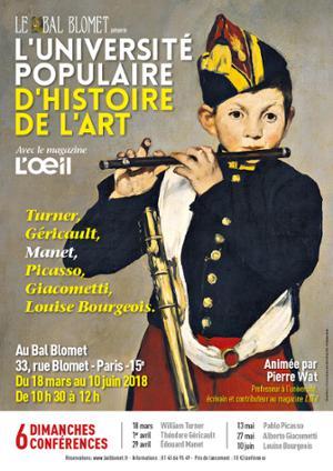UNIVERSITE POPULAIRE D'HISTOIRE DE L'ART - EDOUARD MANET