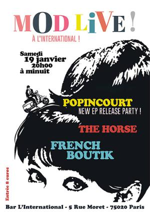 French Boutik, Popincourt, The Horse à L'International 19 Jan