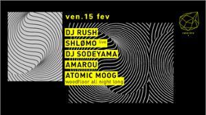 Concrete: DJ Rush, Shlomo Live, DJ Sodeyama, Amarou