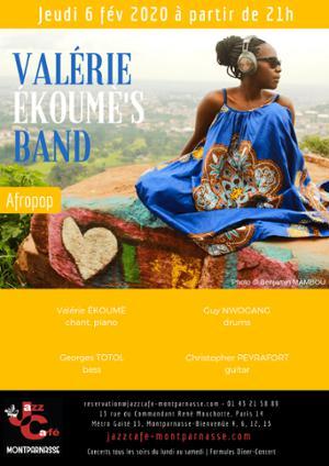 Valérie Ekoumè's Band au Jazz Café Montparnasse