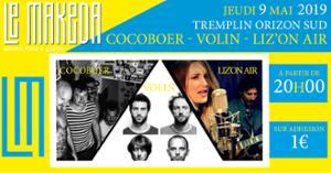 Tremplin Scène Découverte : Phase 1 : Cocoboer, Volin, Liz'On Air