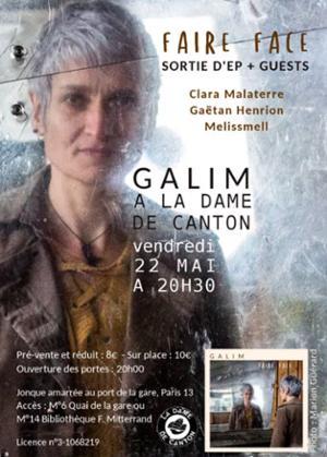 GALIM  Release + guests : Melissmell + Gaëtan Henrion + Clara Malaterre