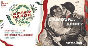 APEROBARGE INVITE HINTERLAND : L'AMOUR LIBRE