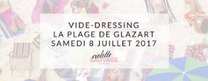 Vide-dressing Violette Sauvage sur la plage de Glazart