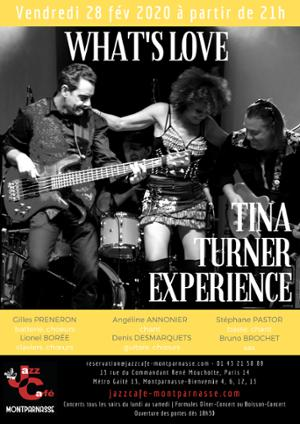 What's Love, Tribute to Tina Turner au Jazz Café Montparnasse