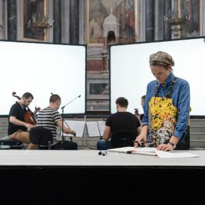 Nuit Blanche : Nuit du quatuor / Sound Traces - Peintures et installations de Fabienne Verdier