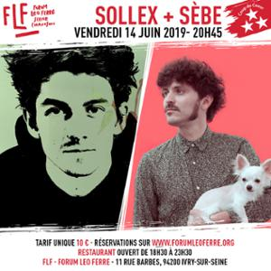 Sollex + Sèbe au FLF - Forum Léo Ferré
