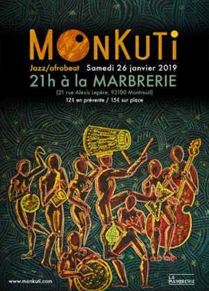 Monkuti (Afrobeat-Jazz) à la Marbrerie