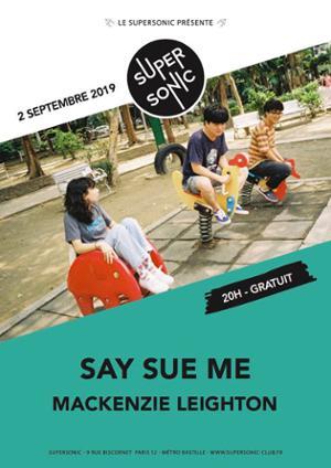 Say Sue Me en concert au Supersonic (Free entry)