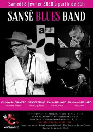 Sansé Blues Band au Jazz Café Montparnasse