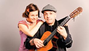 Rodolphe Raffalli et Renée Garlène avec Georges Brassens