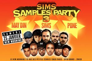 Sims Samples Party #3 DJ Pone