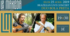 Duo Bola Preta + Invités (Musiques Brésiliennes) au Makeda