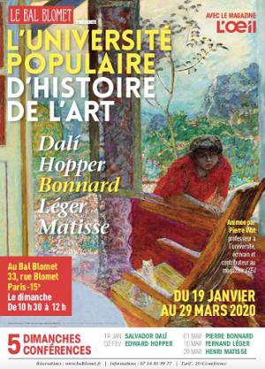 PIERRE BONNARD -UNIVERSITÉ POPULAIRE D'HISTOIRE DE L'ART
