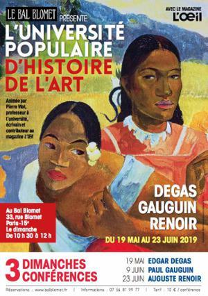 UNIVERSITE POPULAIRE D'HISTOIRE DE L'ART - PAUL GAUGUIN