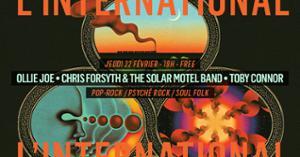 Ollie Joe • Chris Forsyth & The Solar Motel Band • Toby Connor