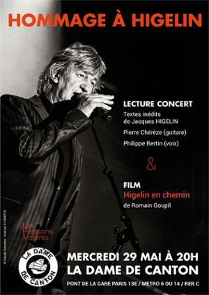 Hommage à Higelin // Lecture-Concert / Philippe Bertin + Pierre Chérèze