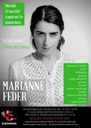 Marianne Feder, sortie d'album L'Hiver des Poètes au Jazz Café Montparnasse