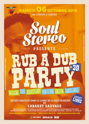 RUB A DUB PARTY #39 – Nuit Blanche 2018
