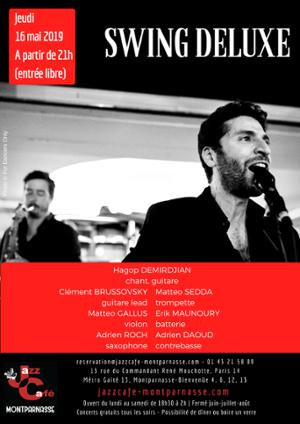 Swing Deluxe au Jazz Café Montparnasse