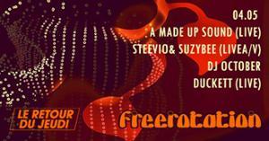Freerotation w/ A Made Up Sound / Steevio & Suzybee / October @Batofar
