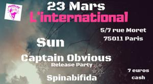 SUN X Captain Obvious (Release Party) X Spinabifida