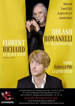 Richard & Romanelli, Le grand blond et l'accordéoniste au Jazz Café Montparnasse