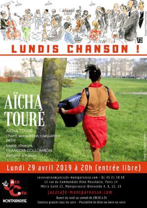Lundis Chanson ! Aïcha Touré au Jazz Café Montparnasse
