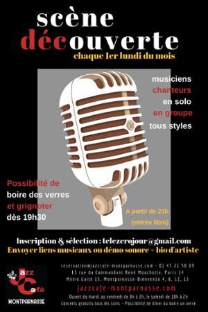 Les Lundis Scène Découverte au Jazz Café Montparnasse
