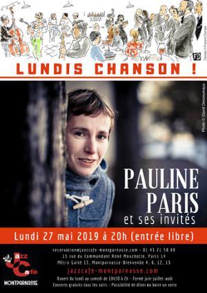 Lundis Chanson ! Pauline Paris et ses invités au Jazz Café Montparnasse
