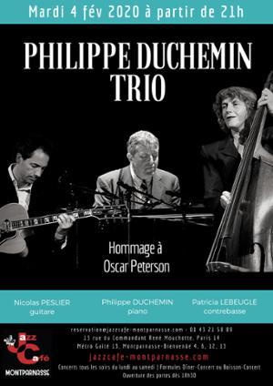 Philippe Duchemin Trio, Hommage à Oscar Peterson au Jazz Café Montparnasse