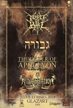 ONDES NOIRES PRESENTE : Temple of Baal+Gevurah+TOOA+Ritualization
