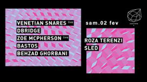 Concrete: Venetian Snares, Dbridge, Roza Terenzi, Zoe mc Pherson