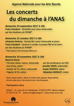 Les concerts du dimanche à l'ANAS