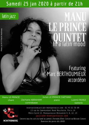 Manu Le Prince 5tet au Jazz Café Montparnasse