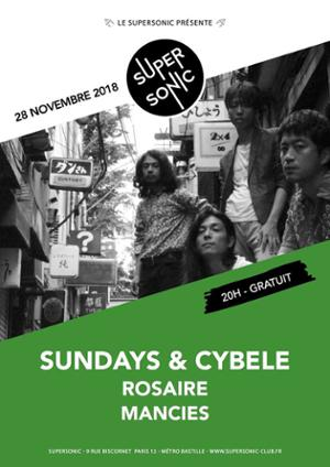 Sundays & Cybele (Psychedelic, Japon) en concert au Supersonic