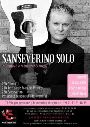 Sanseverino Solo, Hommage à Béranger au Jazz Café Montparnasse