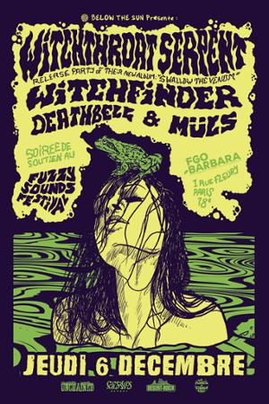 Witchthroat Serpent (Release Party)+ Witchfinder + Deathbell + Müls