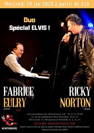 Fabrice Eulry & Ricky Norton, Duo Spécial Elvis au Jazz Café Montparnasse
