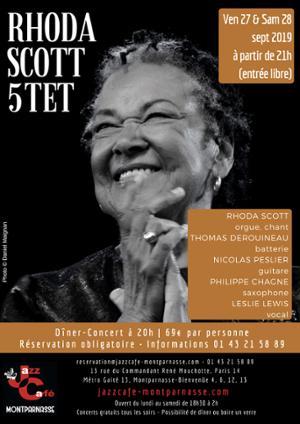 Rhoda Scott 5tet au Jazz Café Montparnasse