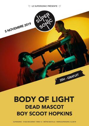 Body Of Light en concert au Supersonic (Free entry)