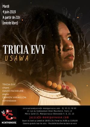 Tricia Evy, USAWA au Jazz Café Montparnasse